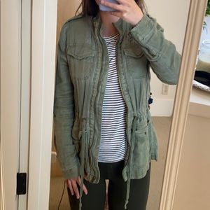 Lucky Brand Green Military Jacket